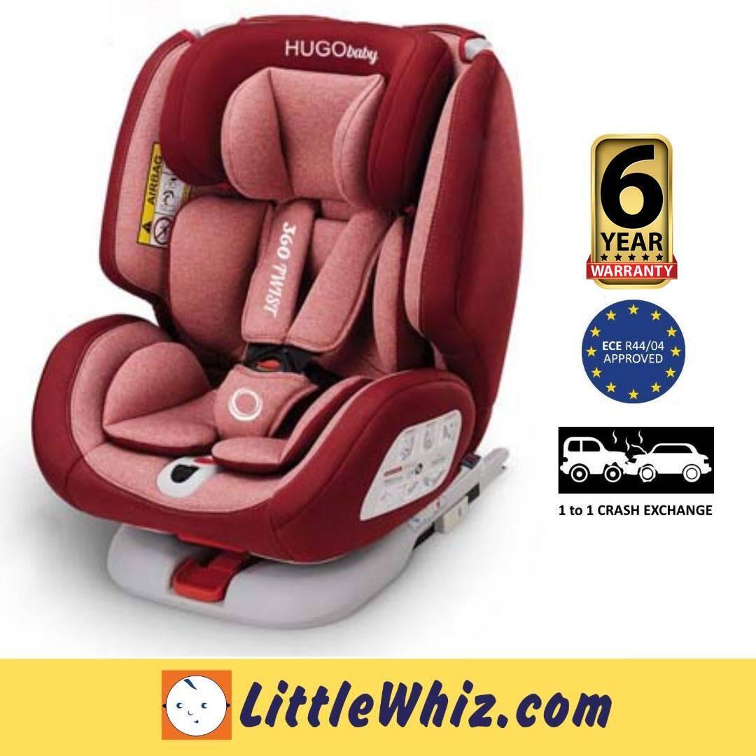 HUGObaby: 360 Twist Convertible Car Seat - RED