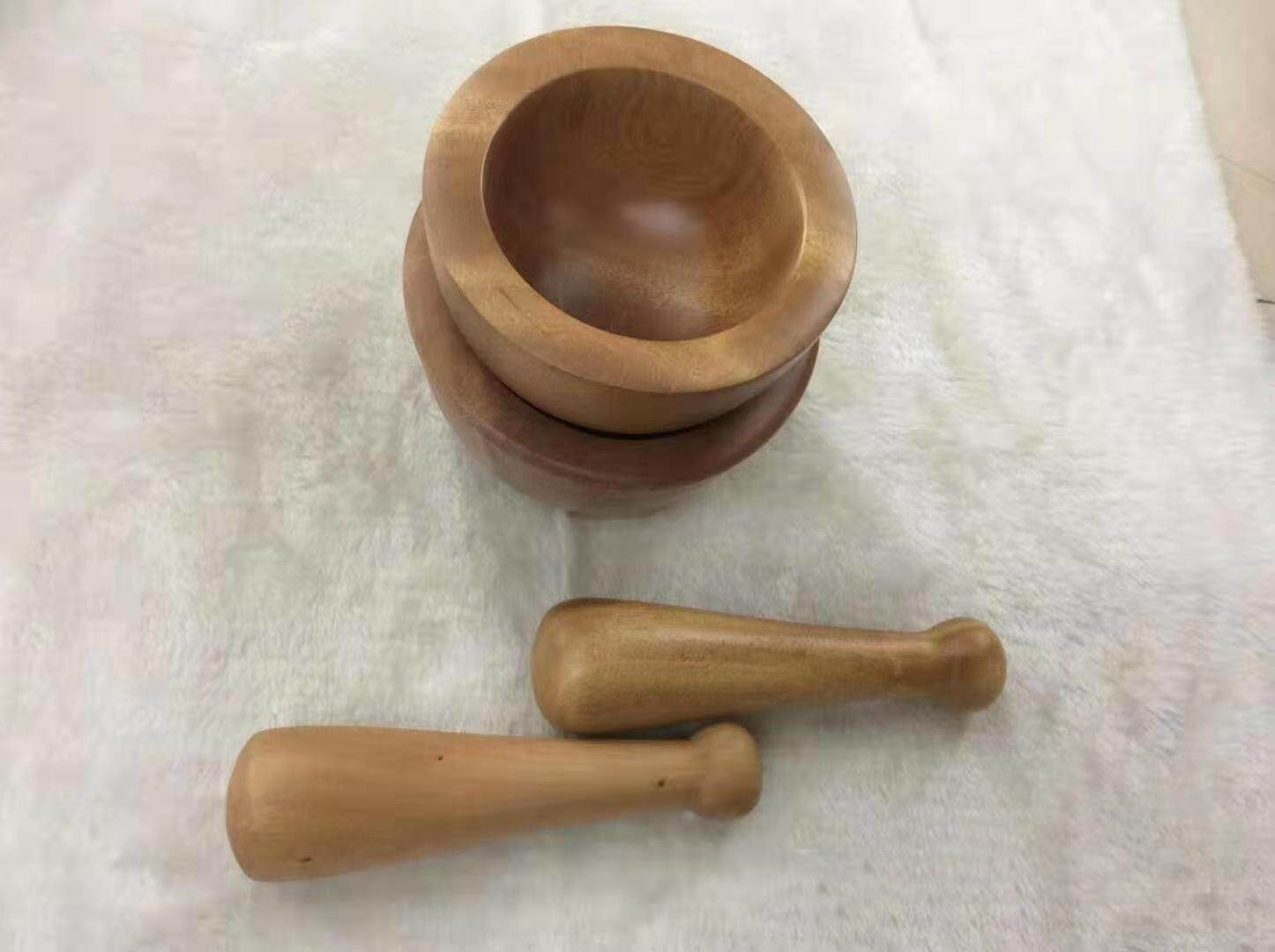Solid Hard Wood Mortar & Pestle [06]