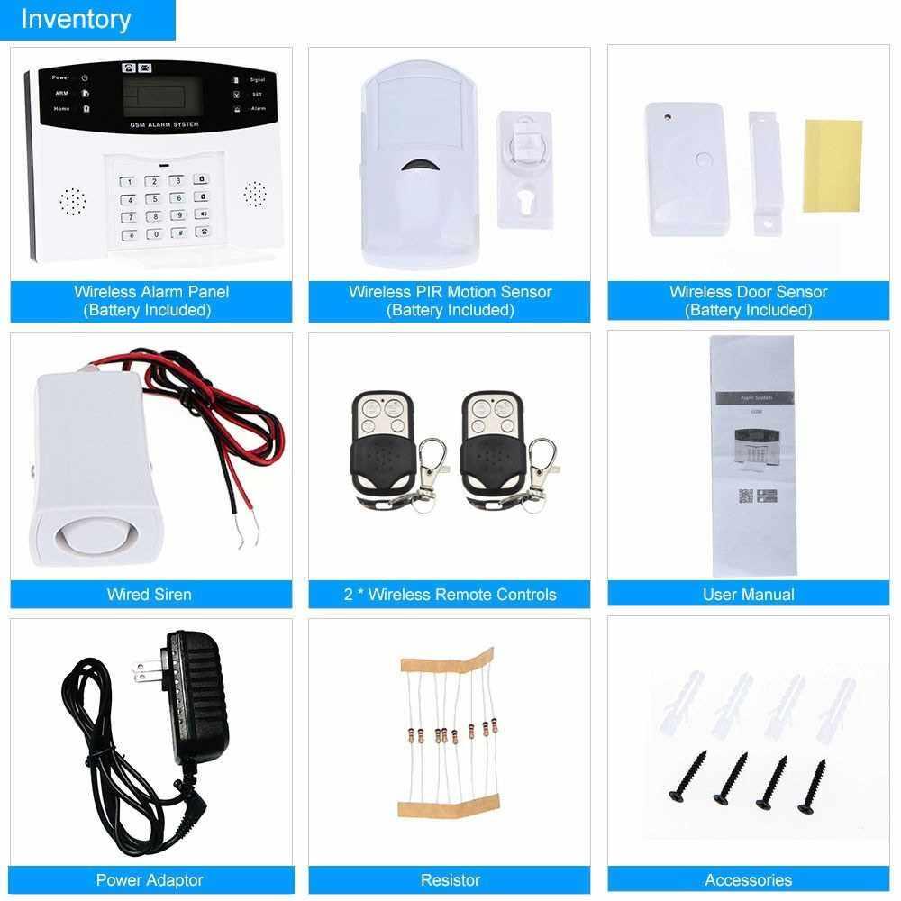 Wireless GSM SMS Home Burglar Security Alarm System (Us)