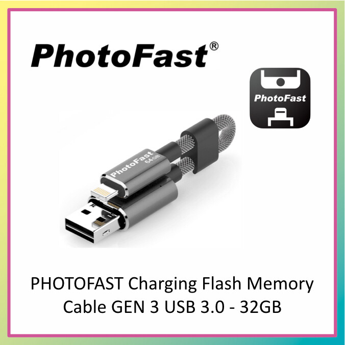 PHOTOFAST Charging Flash Memory Cable GEN 3 1M USB 3.0  With Adaptor 32GB