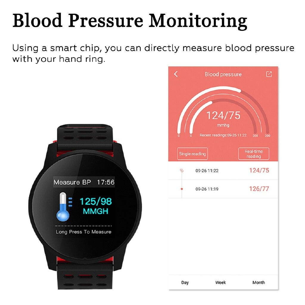 Smart Watch - Sports Smart Watch Heart Rate Monitor Bracelet IP67 For Samsung IOS Android - BLACK GREEN / BLACK AND RED / BLACK GRAY / BLACK AND BLUE