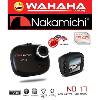 "Nakamichi ND17 Car Digital Recorder Camera with 1.41"" TFT LCD Screen"