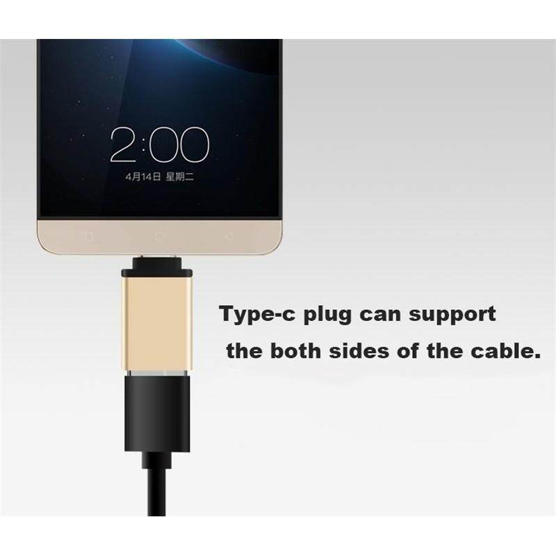 Mobile Cable & Chargers - Type-C OTG Cable Adapter for All Type-c Phone - ROSY GOLD / GOLD / GREY / BLUE / BLACK / SILVER