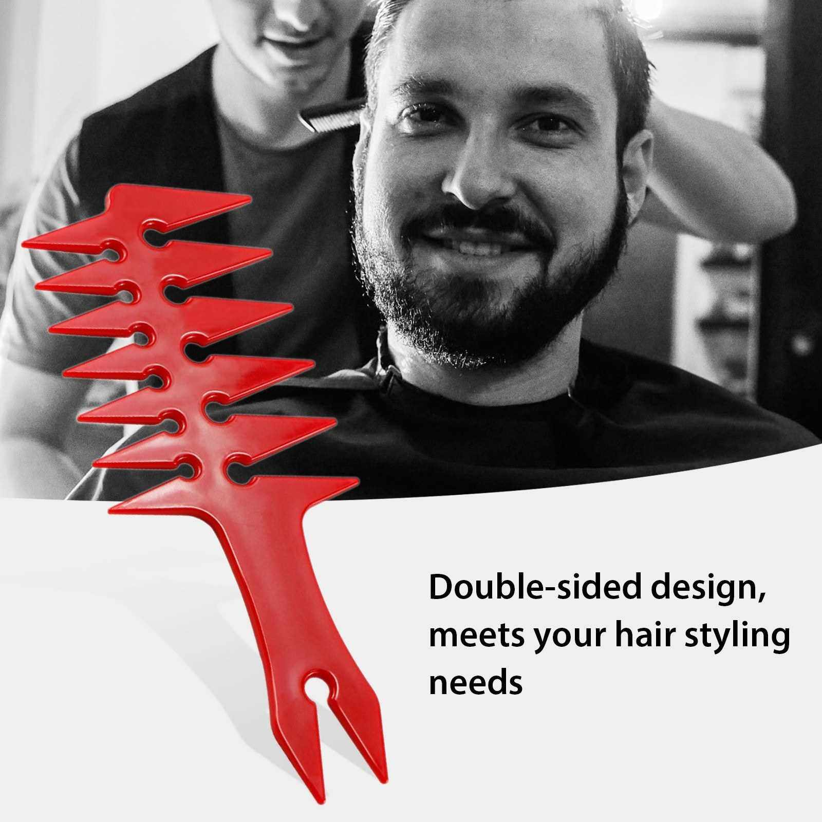 Men's Oil Head Comb Hair Comb Back Head Styling Beard Oil Comb Men Hairdressing Wide Teeth Comb (Gold)