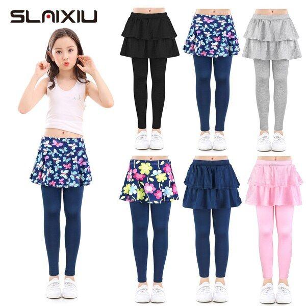 Giá bán SLAIXIU Cotton Trẻ Em Bé Gái Quần Legging Váy Cho Bé Hoa In Hoa Thun Quần Bút Chì Áo Thiếu Niên Quần