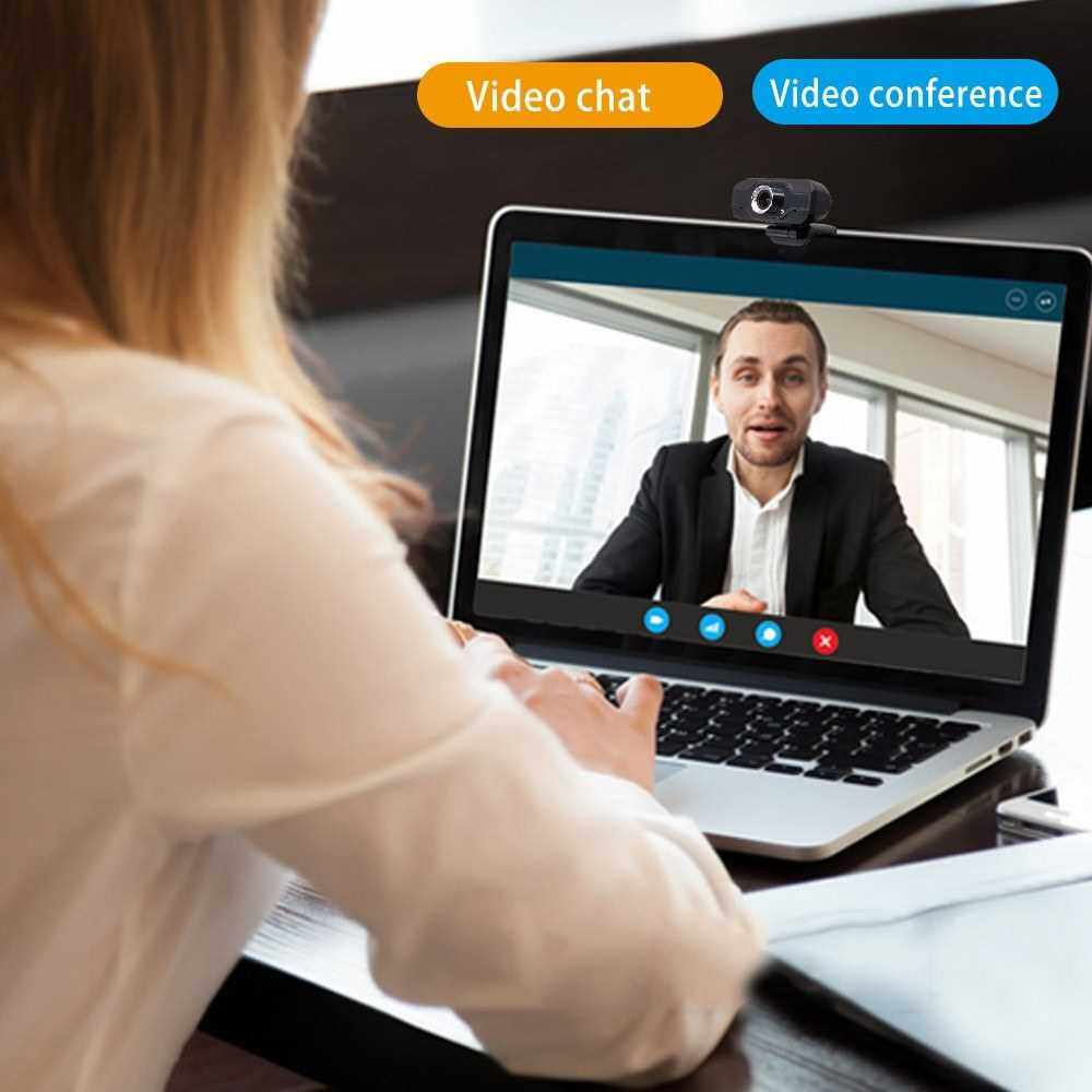 1080P Webcam USB Camera Video High Definition Web Cam with Mic for Online Studying Meeting Calling (2)