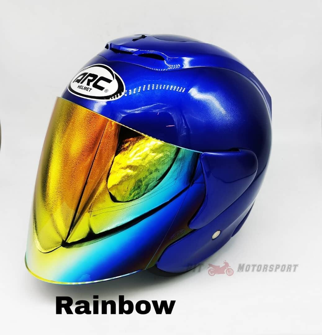 DEEP BLUE Helmet ARC RITZ Add On Visor Clear / Smoke / Gold / Red / Blue / Rainbow Visor & Helmet ARC
