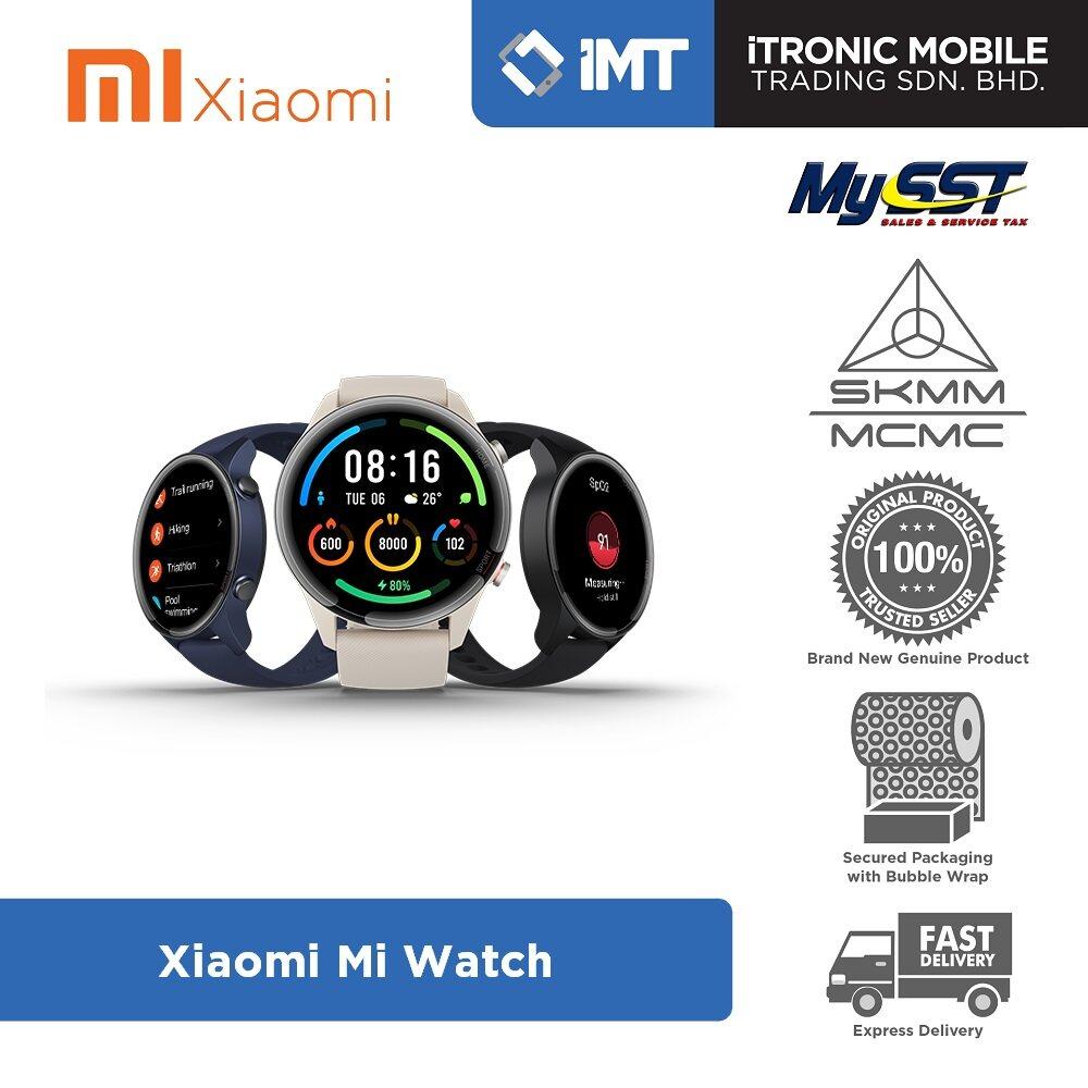 [MY] Xiaomi Mi Watch Smartwatch Beige/Black/Blue - Original Malaysia Set