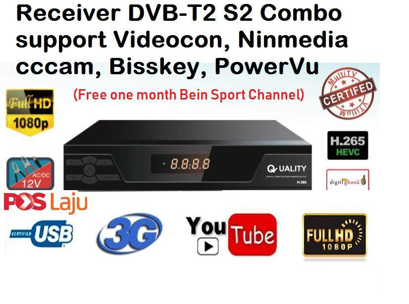 VIDEOCON MYTV MYFREEVIEW Quality Combo DVB-S2/DVB-T2 (((free wifi adapter))))