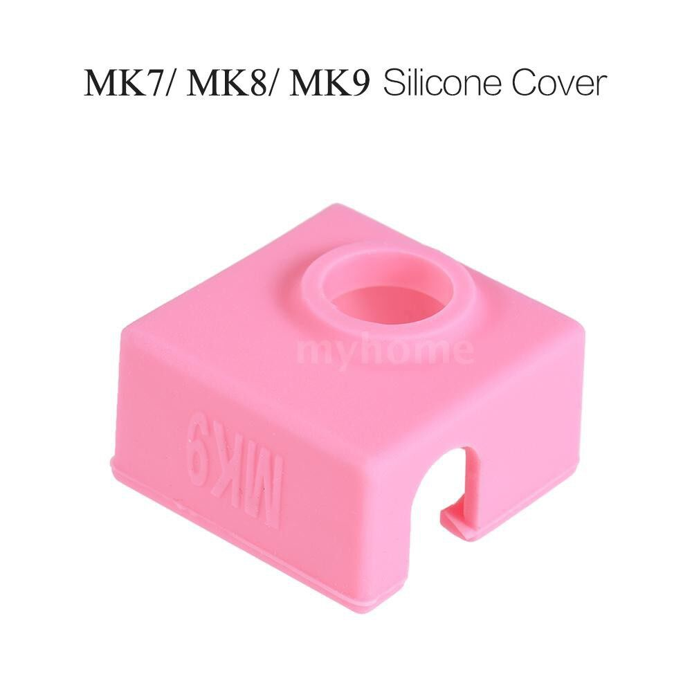 Printers & Projectors - 1 Piece Silicone Socks Cover Heating Insulation Case 280 High-temperature Resistant for MK7/MK8/MK9 - YELLOW / PINK