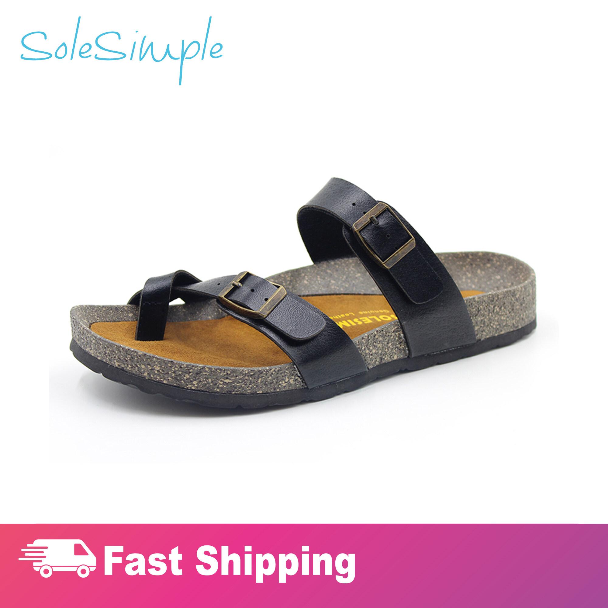 SoleSimple Dublin - Leather Black / Sandal
