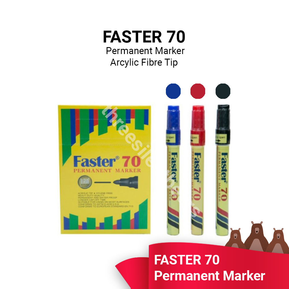 FASTER 70 PERMANENT MARKER - READY STOCK - FAST SHIPPING - VALUE BUY