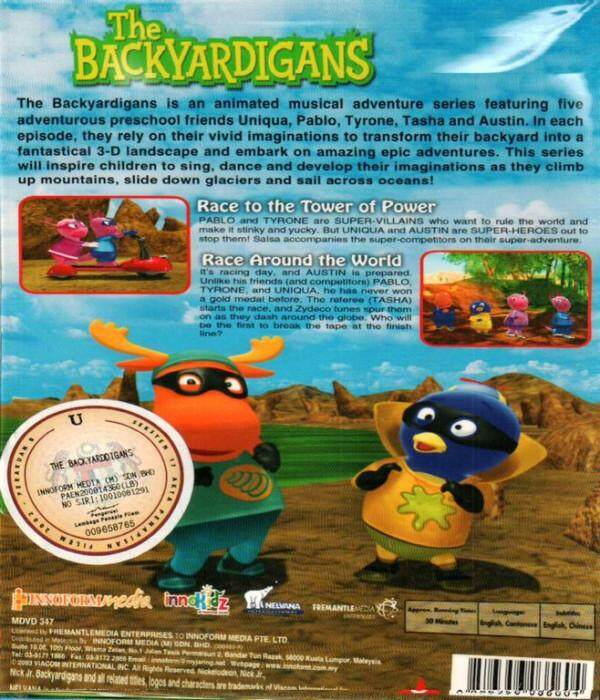 The Backyardigans Race To The Tower Of Power Race Around The World DVD
