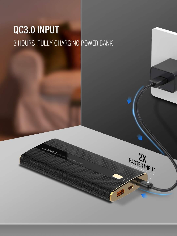 Ldnio PQ1010 Power Monster Singel USB3.0 10000mAh Power Bank (PQ1010), Input Micro, 5V/3A or 9V/2A or 12v/1.5A