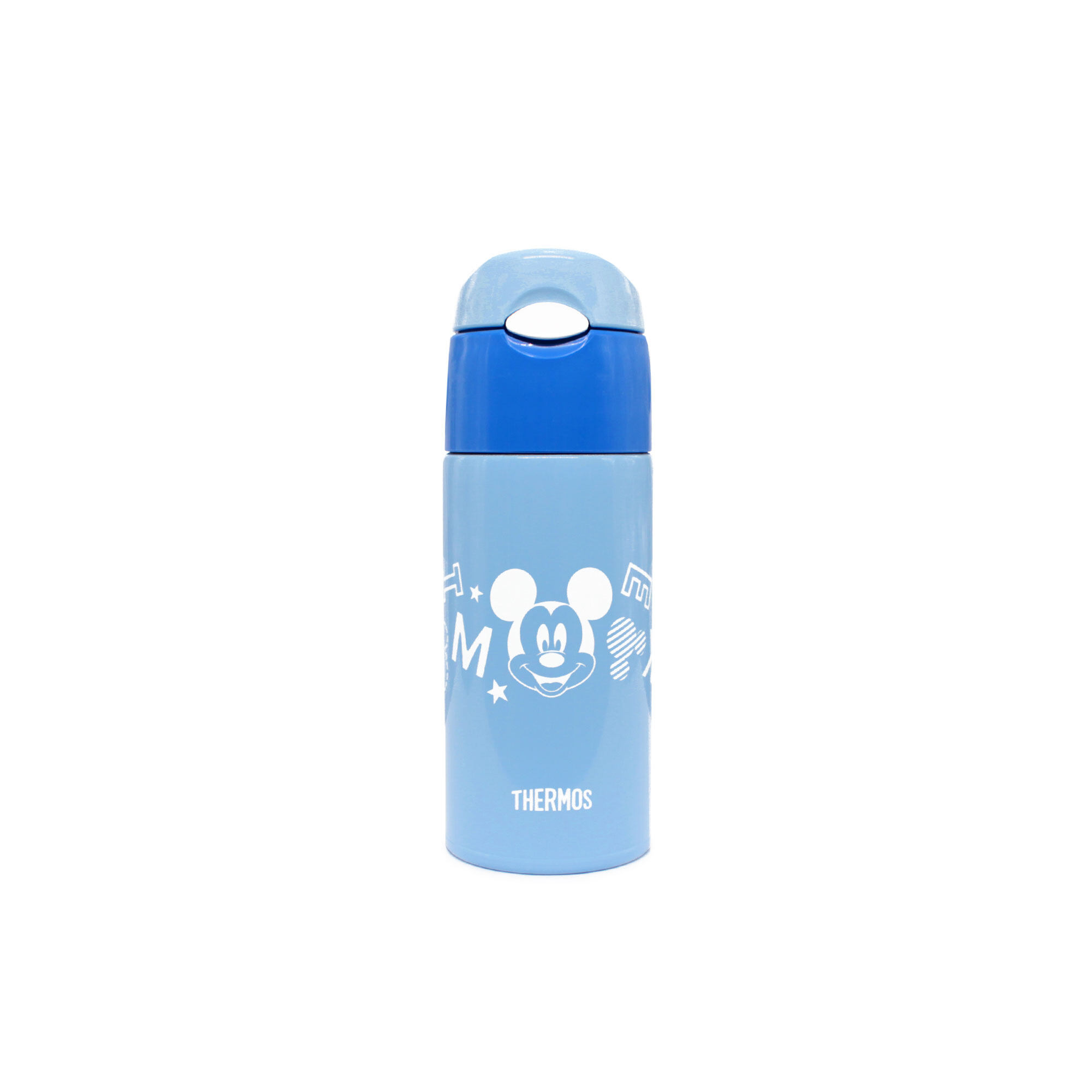 Disney Mickey 400Ml Thermos Stainless Steel Ice Cold Bottle With Bag - Light Blue Colour