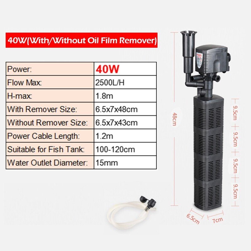 Mobile Cable & Chargers - Submersible Aquarium Internal Filter Pump Increase Oxygen Water Pump With Oil - REMOVE OIL FILM.-30W / NORMAL-25W / REMOVE OIL FILM.-40W / NORMAL-18W / NORMAL-40W / REMOVE OIL FILM.-18W / REMOVE OIL FILM.-25W / NORMAL-3W / N