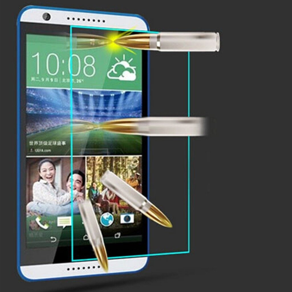 Clear - 9H Premium Tempered Glass Screen Protector Film Guard For HTC Desire 616 D6 - Screen Protectors