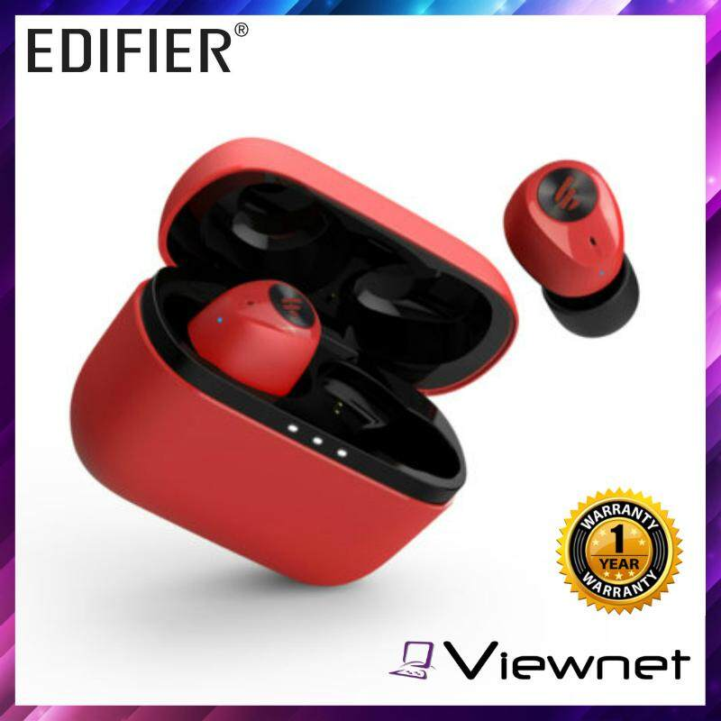 Edifier TWS 2 High Performance IPX4 Splash-proof True Wireless Bluetooth V5.0 Stereo Earbuds with 500mAh Charging Case