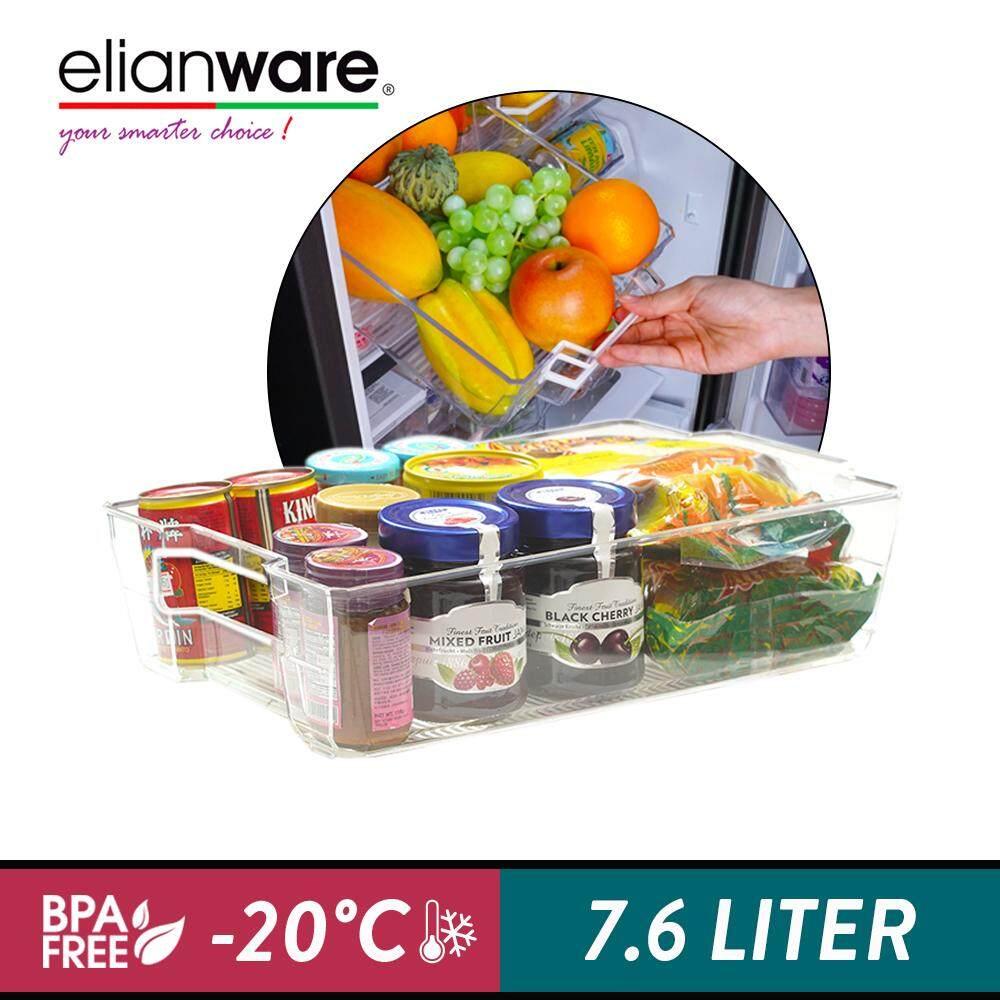 Elianware E-Concept BPA FREE Stackable Wide Drawer with Handle Fridge & Freezer Organizer (22cm)