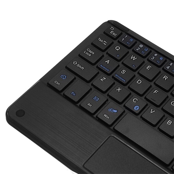 Keyboards - B.O.W HB119 Universal WIRELESS BLUETOOTH Touch Keyboard with Leather - Computer Accessories
