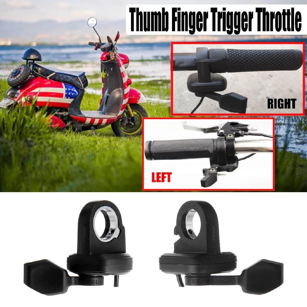 Scooters - 24V-72V Thumb Finger Trigger Speed Control Assembly Electric Bike Ebike Scooter - RIGHT HAND / LEFT HAND