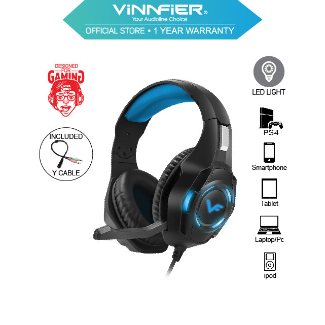 Vinnfier Toros 3 Gaming Headphone with LED Light With Mic For Computer