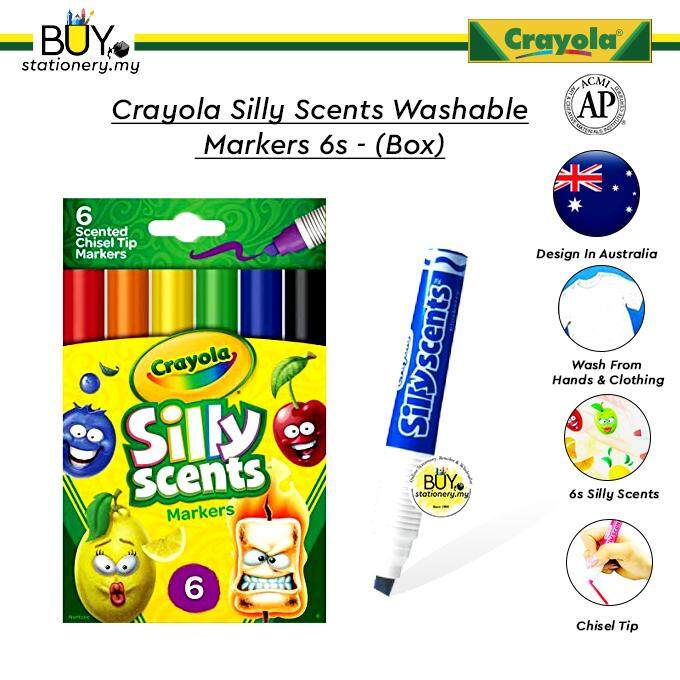 Crayola Silly Scents Washable Markers 6s- Box