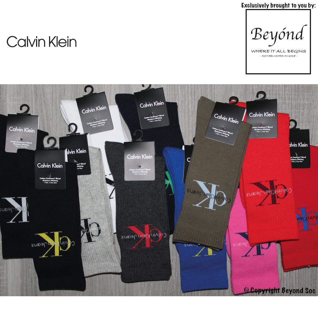 Calvin Klein Logo Rib Crew Socks
