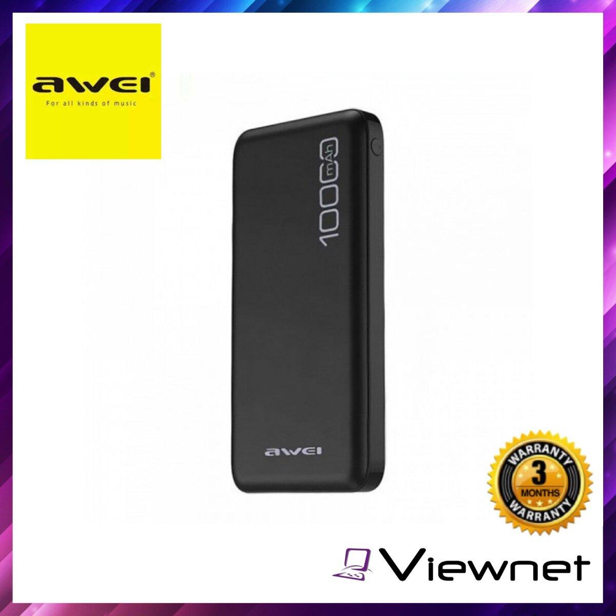 Awei P28K 10000Mah Power Bank, Dual USB Port, Fast Charge 2.1A