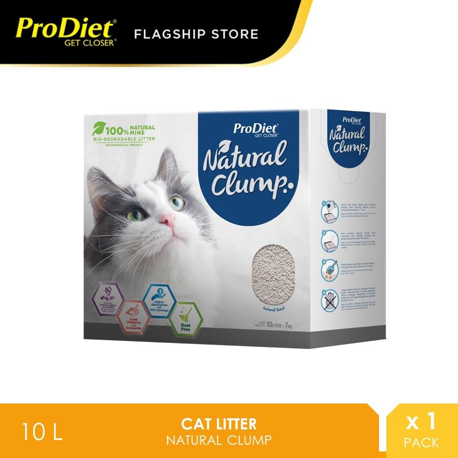 ProDiet Cat Litter Natural Clump 10L [Pasir Kucing]