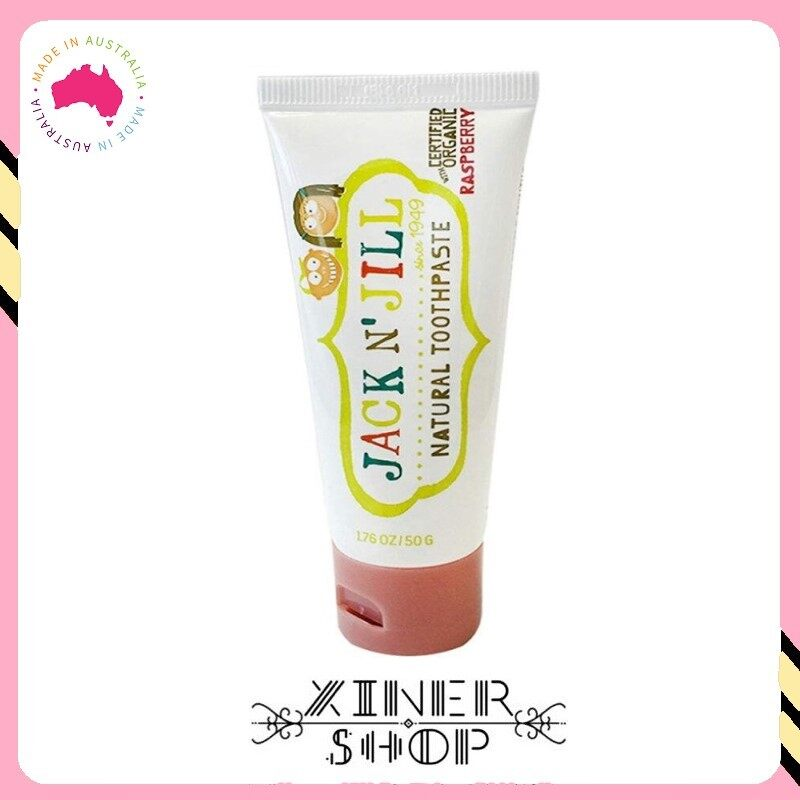 [Pre Order] Jack N Jill Kids Toothpaste Organic Raspberry Flavour ( 50g )(Made in Australia)