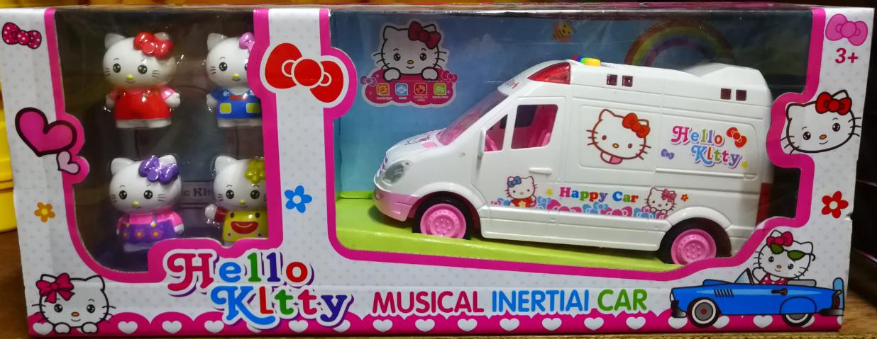 Hello Kitty Musical Inertial Car Toys Set for girls