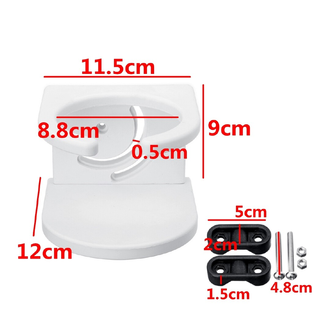 Automotive Tools & Equipment - White Single Drink Cup Holder ABS + Bracket For Boat Marine Caravan Auto Car - Car Replacement Parts