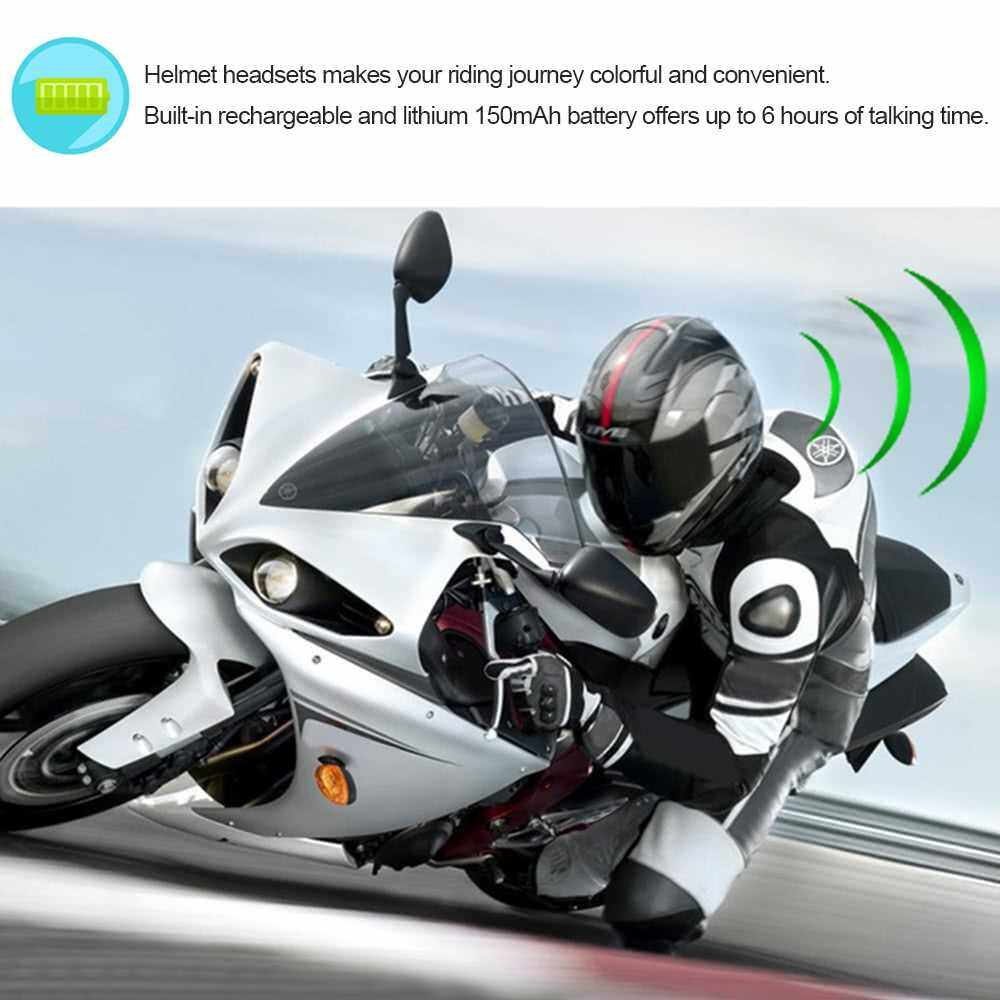 Best Selling Motorcycle Motorbike Helmet Bluetooth Headsets Wireless Headphones Bluetooth 4.0 Dual Stereo Speakers Hands-free with Mic Earphone for Smart Phones Bluetooth-enabled Devices (Standard)