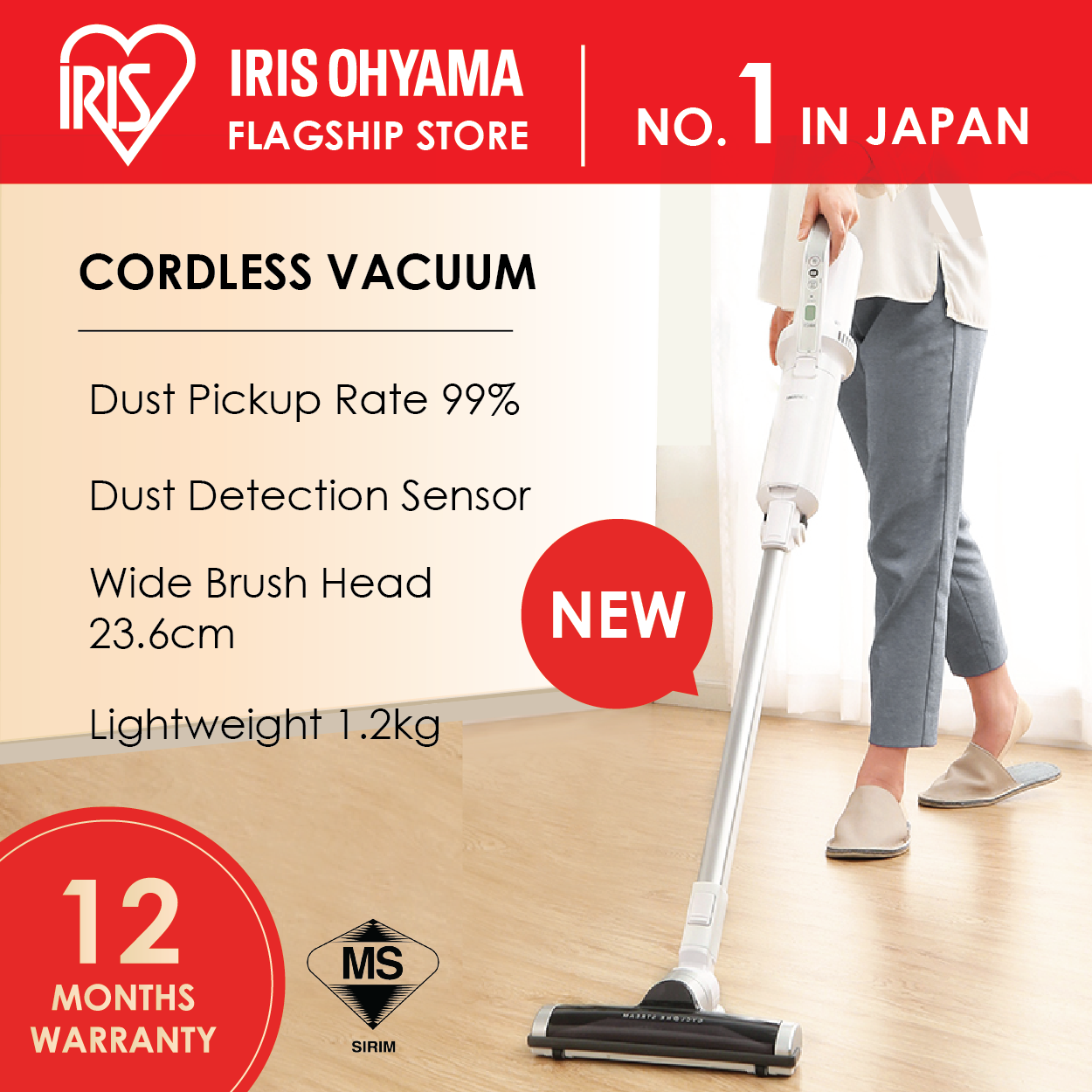IRIS OHYAMA IC-SLDC8 Cordless Vacuum Cleaner (12 Months Warranty)