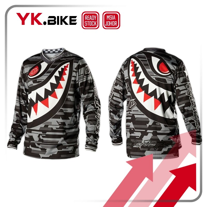 YKBIKE  [LOCAL READY STOCK] Downhill Jersey V Neck Breathable Cycling T-shirt Long Sleeve Sun Protect Clothing APL22