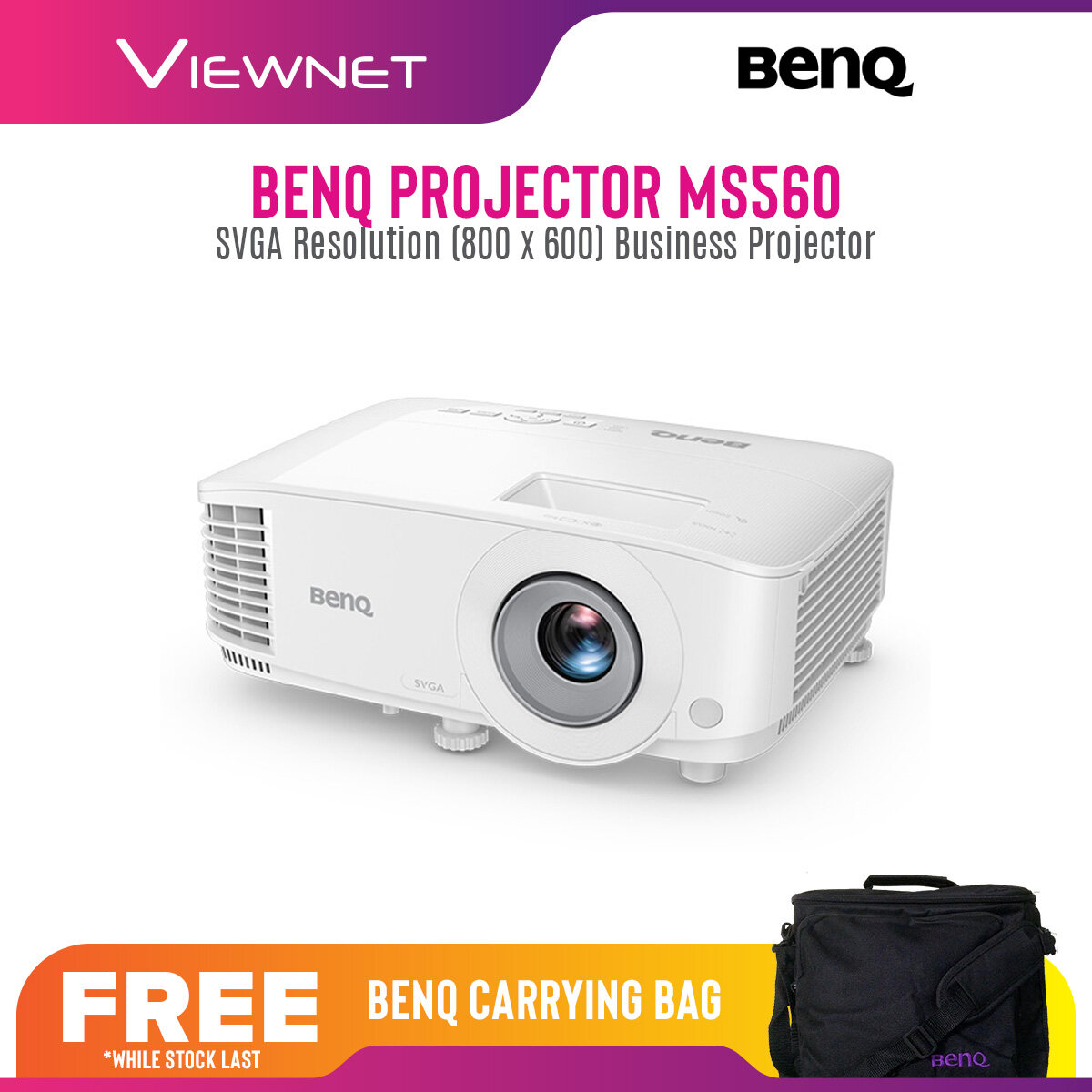 BenQ Projector MS560 with SVGA Resolution (800 x 600), 4000 Lumens, 15000 Lamp Life in Eco Mode
