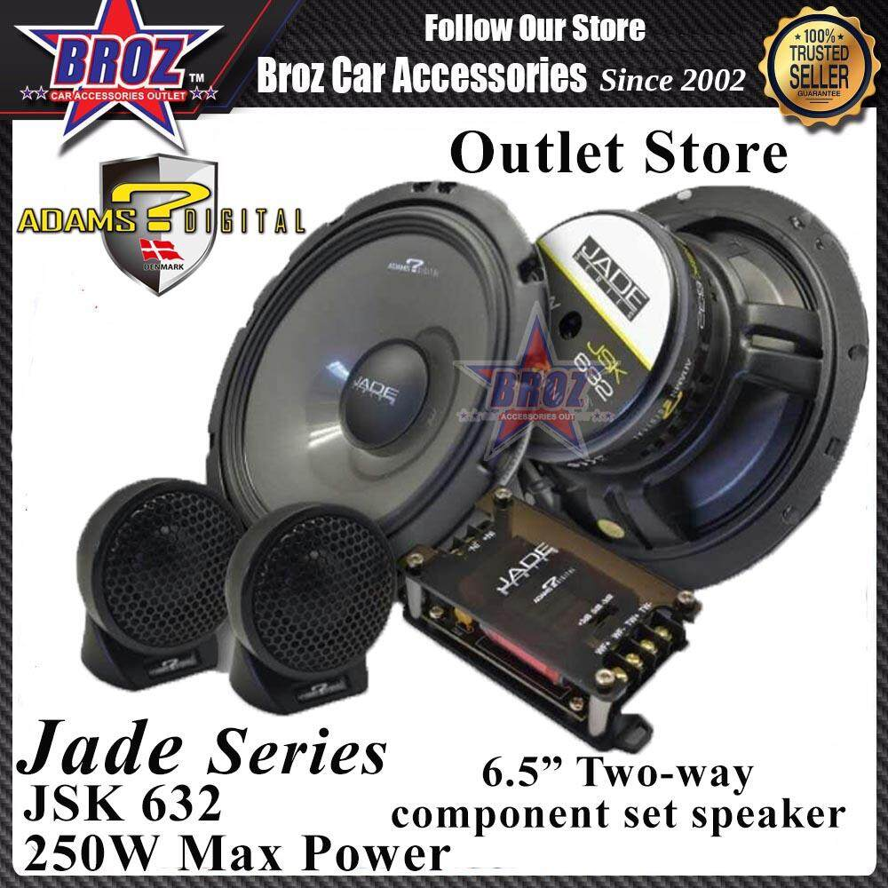 Adams Digital Jade Series JSK-632 6.5inch 2-Way Component Set Speaker 250W Max Power