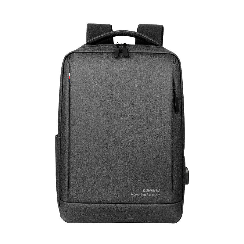 OUMANTU Executive Business Waterproof Backpack Laptop Computer Travel Bag with USB Charging Port