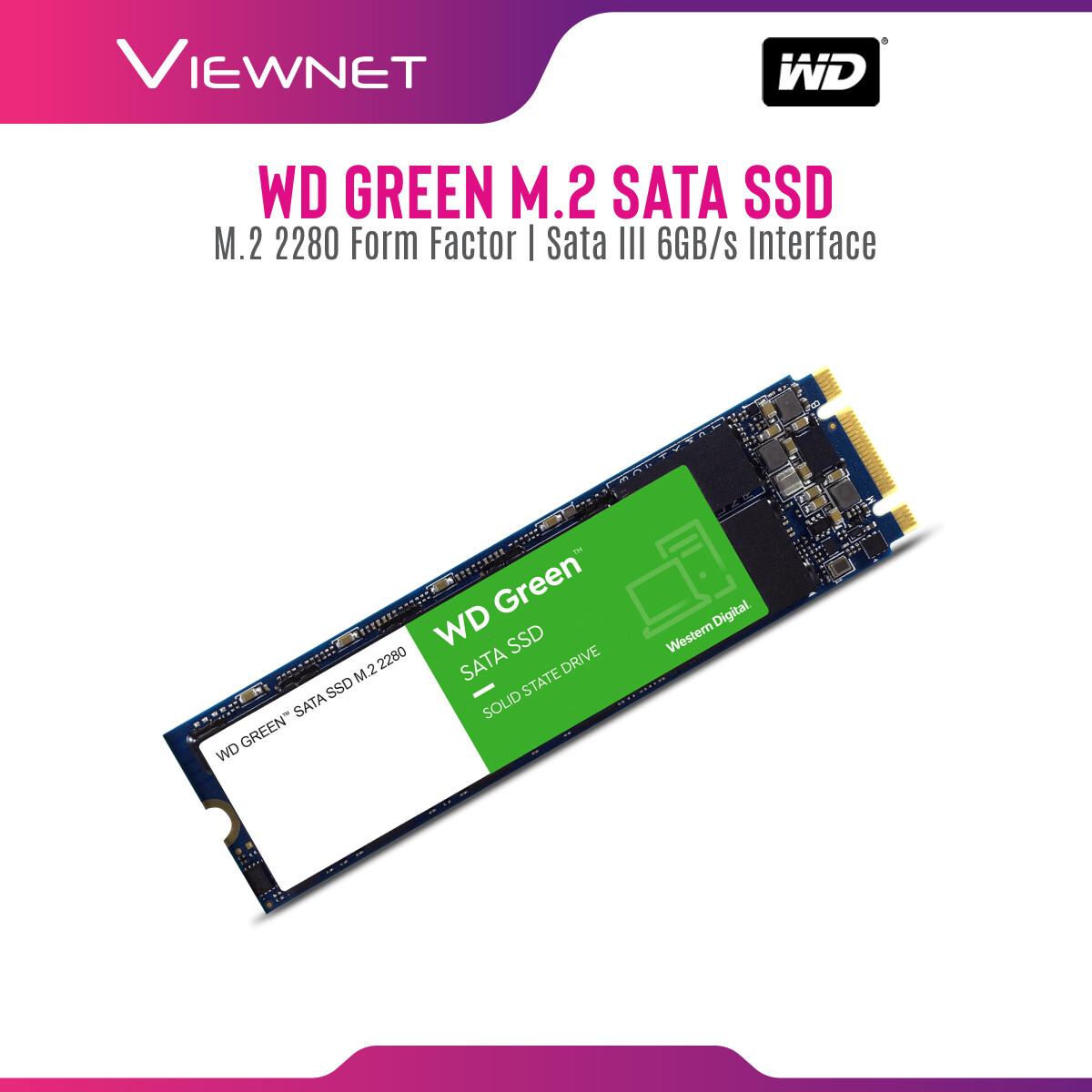 Western Digital M.2 SATA Green 240GB/480GB SSD Solid State Drives (WDS240G2G0B/WDS480G2G0B/WDS480G2G0B)