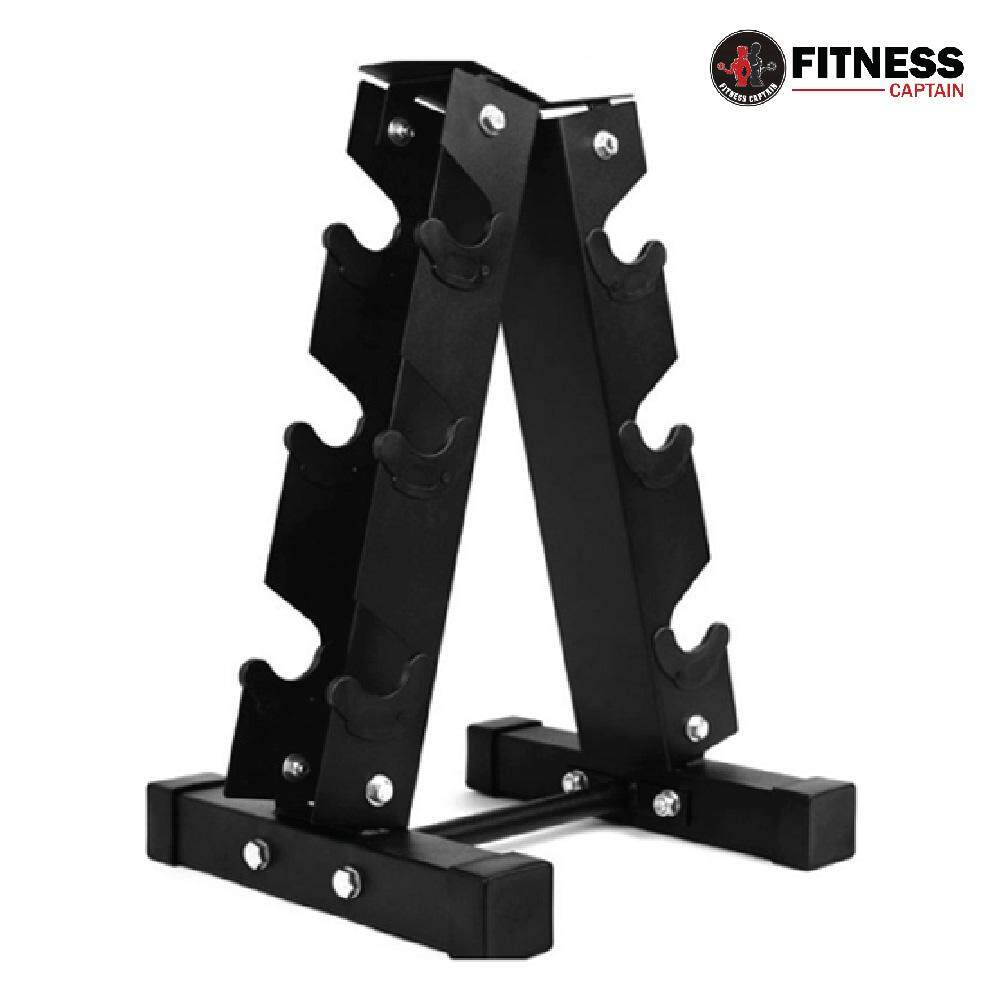 3-Pair Vertical A Frame Dumbbell Storage Rack Stand