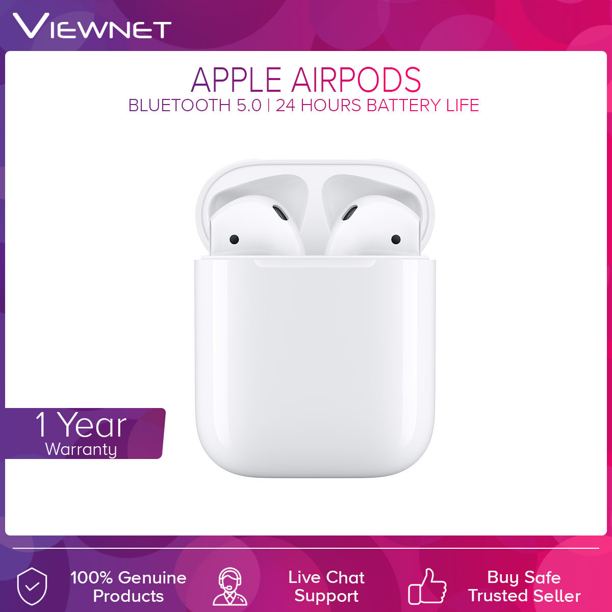 Apple AirPods 2019 2nd Gen with Charging Case Quick Charge (MV7N2ZA/A) / Wireless Charging Case (MRXJ2ZA/A) Earbuds Earphone Headphones Headsets - Original Apple Malaysia 1 Year Warranty