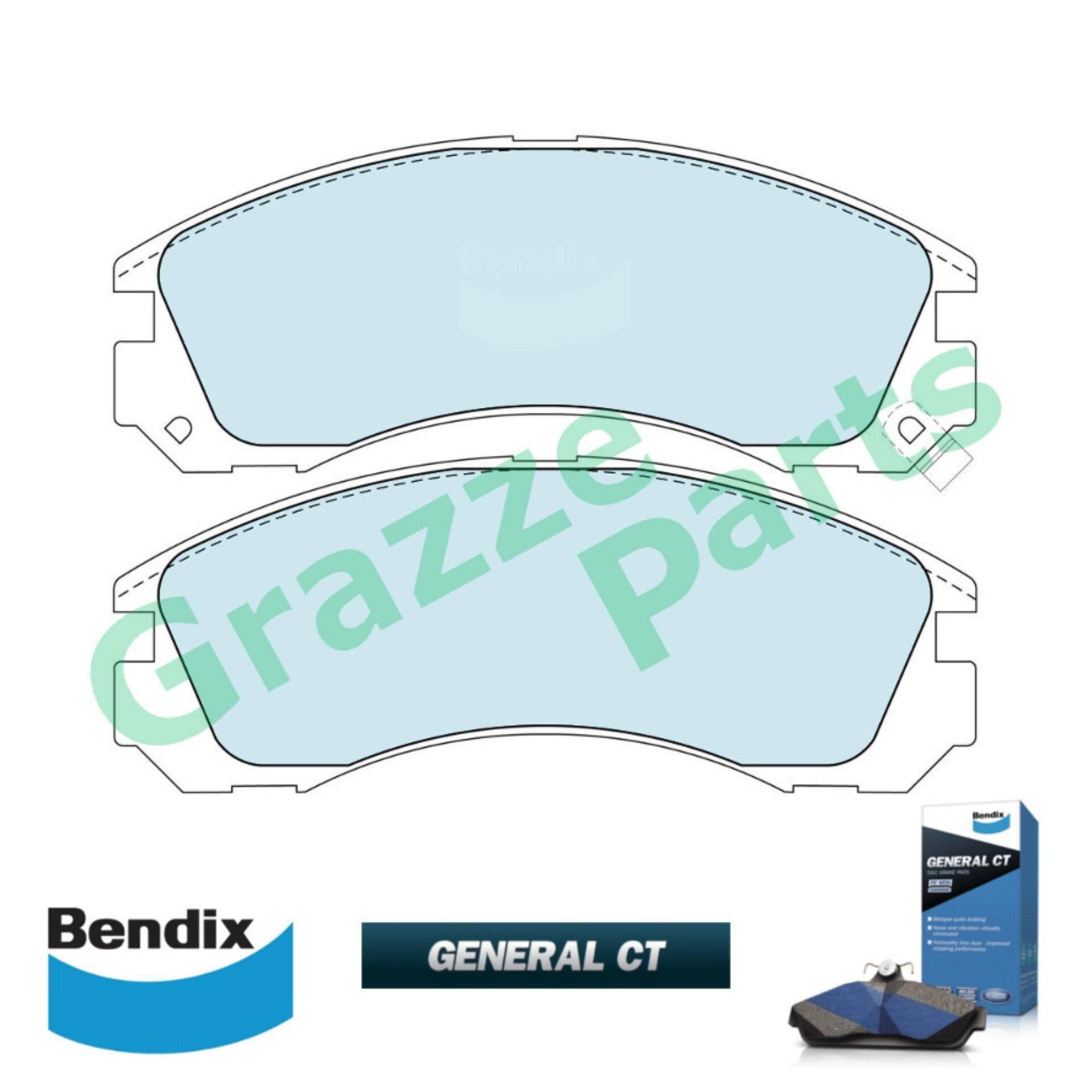 Bendix General CT Disc Brake Pad Front for DB1223 - Mitsubishi Pajero V6 V46 1991-1999 Galant 1990-1994 Airtrek Turbo