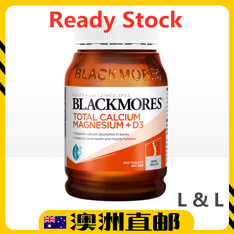 [Ready Stock EXP: 07/2021yr] Blackmores Total Calcium & Magnesium + D3 ( 200 Tablets ) ( Made In Australia )