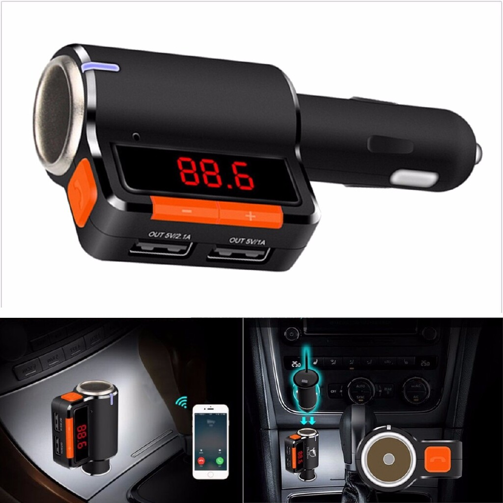 Chargers - LCD Car MP3 WIRELESS BLUETOOTH Music Player USB Charger FM Transmitter Handsfree - Cables