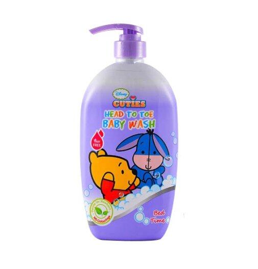 Disney Cuties 750ml Head to Toe Baby Wash - Tear Free (Bed Time) 1pc