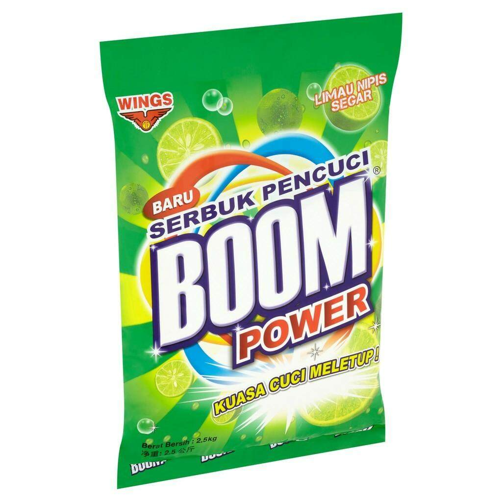 WINGS BOOM POWER DETERGENT POWDER LIME (2.5KG) READY STOCK