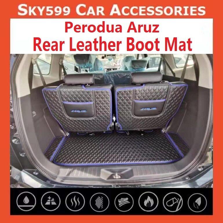 Perodua Aruz Leather Rear Boot Cargo Car Floor Mats Trunk Mat Pad Leather Car