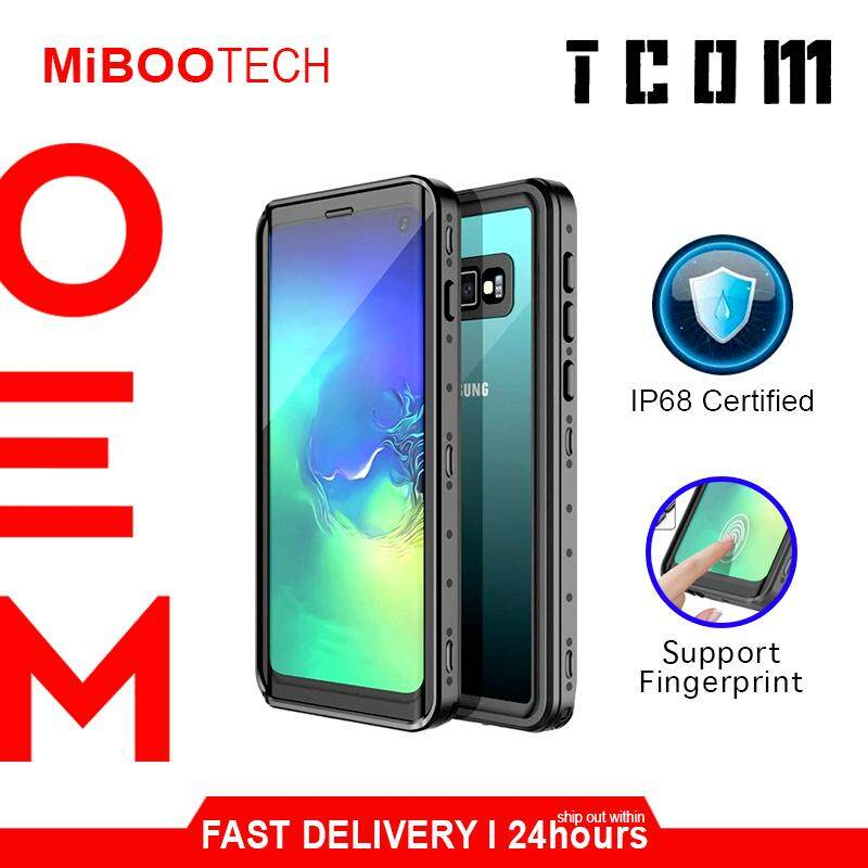 [Miboo] TCOM Samsung Galaxy S10 / S10 Plus 360 Protective Case Waterproof Casing Cover Born For Samsung S10 Plus - Black - S10