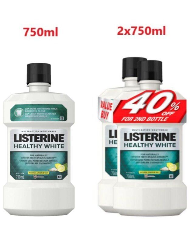 LISTERINE Healthy White 750ML- Natural Lemon & Salt (exp: 9/23)